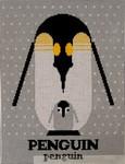 Penguinpenguin Charley Harper CH-P045 13 Mesh 9 x 12 Treglown Designs