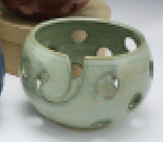 "1600 Jade Holy Pawley Studios Holy Bowl Large Bowl 5.5""x8"""
