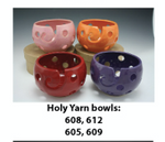 "1605 Red Holy Pawley Studios Holy Bowl Large Bowl 5.5""x8"""