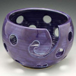 "1609 Purple Holy Pawley Studios Holy Bowl Large Bowl 5.5""x8"""