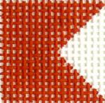 M35Bravo Flag  Mini 2 x 2 13  Mesh Silver Needle Designs