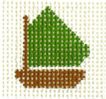 M29 Green Boat Mini Mini  2 x 2 13  Mesh Silver Needle Designs