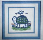 H51Small Turtle 5 x 5 18 Mesh Hadley Potter Silver Needle Designs