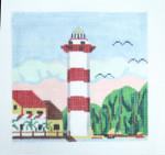144 Hilton Head SC Lighthouse 5 x 5 18 Mesh Silver Needle Designs
