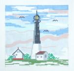 144B Tybee Island GA Lighthouse5 x 5 18  Mesh Silver Needle Designs
