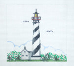 144C St. Augustine FL Lighthouse5 x 518 Mesh Silver Needle Designs