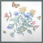 794Purple Blossom Pillow 20x23  13 Mesh Silver Needle Designs