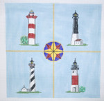 208Four Lighthouses Pillow14 x 1413 Mesh Silver Needle Designs