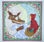 232 Little Red Riding Hood 12.75 x 12.7513  Mesh Silver Needle Designs