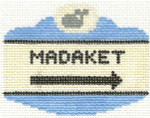 521 Madaket Sign Ornament	2.5 x 3.5	18 Mesh Silver Needle Designs