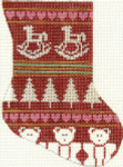 278Red Rocking Horse Minisock4 x 5.518 Mesh Silver Needle Designs