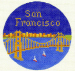344	San Francisco Ornament	4.25 RD.	18 Mesh Silver Needle Designs