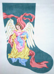 453 Neapolitan Angel Christmas Stocking 12 x 1818 Mesh Silver Needle Designs