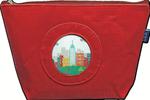 BAG70R9.5″ W x 6.5″ H x 3″ D Small Silk bag - Red Lee's Needle Arts