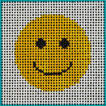 A4 Happy Face DeElda Needleworks