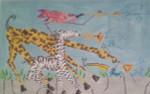 AB9 Trumpets! Zebra, 13″x8.25″, 18 mesh Alex Beard