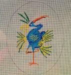 AB22 Gestural Heron, 5″x6.5″, 18 mesh Alex Beard