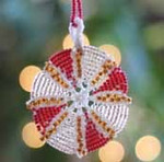 Ornament Peppermint Nelkin Designs Knitting Kit