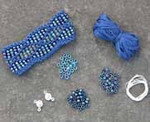 Beaded Wave Cuff Denim Nelkin Designs Knitting Kit