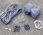 Beaded Wave Cuff Steel Nelkin Designs Knitting Kit