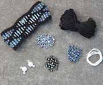 Beaded Wave Cuff Black Nelkin Designs Knitting Kit