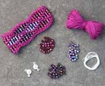 Beaded Wave Cuff Fuchsia Nelkin Designs Knitting Kit