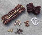 Beaded Wave Cuff Dark Roast Nelkin Designs Knitting Kit