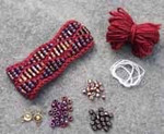 Beaded Wave Cuff Cerise Nelkin Designs Knitting Kit