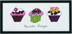 """920178 Permin Cupcakes 14.4"""" x 6""""; Aida; 14ct"""