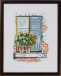 "926165 Permin Kit Flowers On Windowsill 10 x 13"" ; Aida; 14ct"