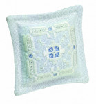 "033112 Permin Kit Pincushion 4"" x 4""; Hardanger; 22ct"
