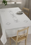 "583645 Permin Kit Table Cloth 55.6"" x 92""; Hardanger - White; 22ct"