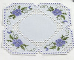 "102808 Permin Kit Floral Doily 11"" x 11""; Hardanger; 22ct"