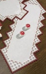 "631862 Permin Kit Tablerunner 12"" x 29"" ; Hardanger; 22ct"
