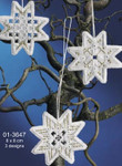 "013647 Permin Kit Christmas Star Hardanger (3pcs) 3"" x 3""; Hardanger; 22ct"