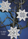 "013646 Permin Kit Christmas Star Hardanger (3pcs) 3.2"" x 3.2""; Hardanger; 22ct"