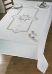 "584624  Permin Kit Star Hardanger  Table Cloth 55"" x 90.5""; Hardanger; 22ct"