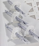 "020599 Permin Kit Hardanger Napkin Holder (Set of 4) 4.4"" x 4.4""; Hardanger - White; 22ct"
