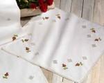 "270635 Permin Kit Hardanger with Roses Tablecloth 30"" x 30""; Hardanger/Aida"