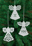 "016617 Permin Kit Three Angels - White 3.6"" x 4.2""; Hardanger - White; 22ct"