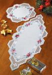 """101704 Permin Kit Christmas Hardanger Table Topper Only 11"""" x 11""""; Hardanger; 22ct"""