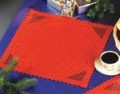 "103675 Permin Kit Christmas Red Hardanger Placemat 16"" x 16""; 100% Cotton; 22ct"