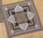 """100912 Permin Kit Hardanger Tabletopper 10"""" x 10""""; Linen; 26ct"""