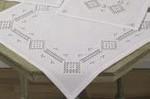 "272765 Permin Kit Table Cloth 27"" x 27""; Hardanger; 22ct"