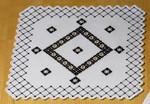 "101661 Permin Kit White Table Topper 15.2"" x 15.2""; White Hardanger; 22ct"