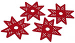 "025200 Permin Kit Hardanger Star Napkin Holder (Set of 4) 6.4"" x 6.4""; Hardanger - Red; 22ct"