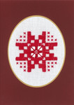 "176741 Permin Kit Christams Card  Includes envelope.; 3.6"" x 5.2""; White Hardanger; 22c"