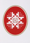 "176746 Permin Kit Christams Card  Includes envelope.; 3.6"" x 5.2""; White Hardanger; 22c"