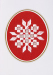 "176745 Permin Kit Christams Card  Includes envelope.; 3.6"" x 5.2""; White Hardanger; 22c"