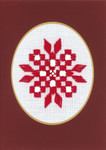 "176740 Permin Kit Christams Card  Includes envelope.; 3.6"" x 5.2""; White Hardanger; 22c"